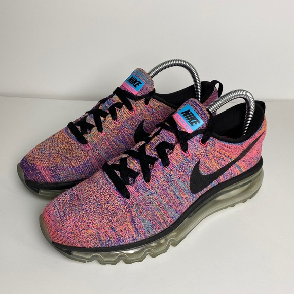 Nike Flyknit Max Multi-Color Pink/Purple Size 7.5